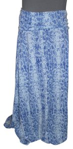 Thyme & Honey Maxi Skirt blue, grey & white snake print