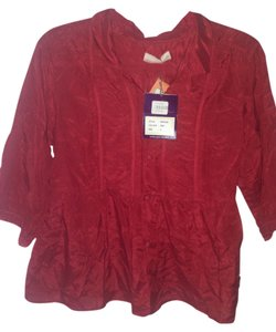 Odd Molly Button Down Shirt Red