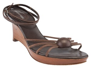 Sergio Rossi Brown Wedges