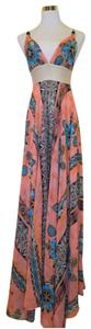 Pink Maxi Dress by Tricia Fix Maxi Floral Spaghetti Strap Halter