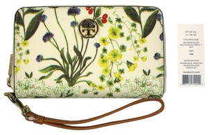 Tory Burch Wristlet in Watercolor Botanical Print
