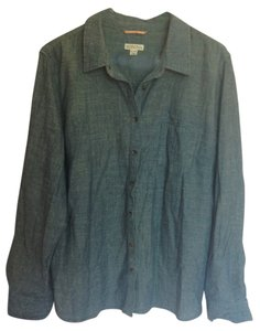 Merona Target Clothes Target Button Down Shirt Denim Blue