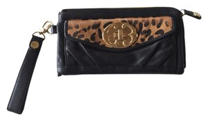 Emma Fox Black And Leopard Clutch