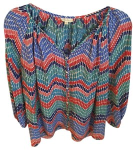 Shoshanna Silk Colorful Colorful Maternity Top Multi