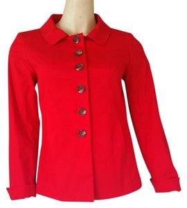 Etcetera Cotton Blend Jacket Red Blazer