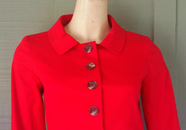 Etcetera Cotton Blend Jacket Peacoat Red Blazer