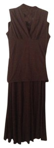 Brown Maxi Dress by CAbi Maxi Maxi Skirt Maxi Skirt Long Short Tank Flatter Me Tank Long Skirt Safari Vintage Cute