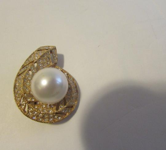 Pearlfection Pearlfection Faux White South Sea Pearl Pin without chain