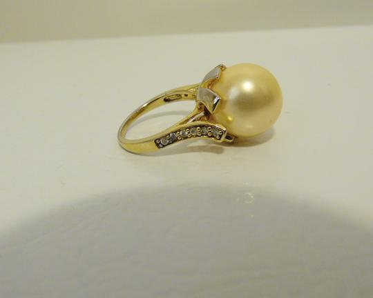 Pearlfection Pearlfection Faux Golden South Sea Pearl Ring 7