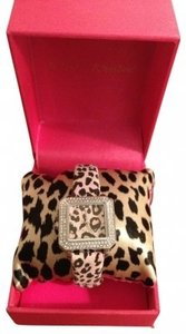 Betsey Johnson Betsey Johnson Pink Leopard and Silver watch