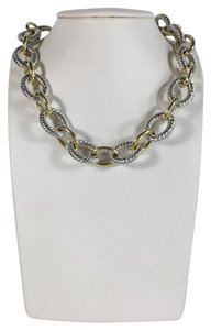 David Yurman Still in Stores - David Yurman Two-Tone Oval Link Necklace