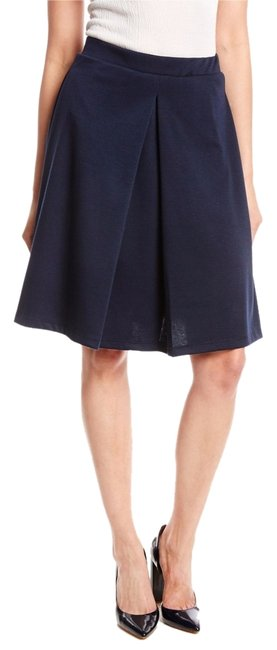 Item - Navy Flared Pleated Skirt Size 8 (M, 29, 30)
