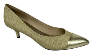 London Sole French Pump 2 Tone Gold Pumps