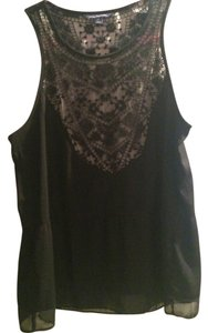 American Eagle Outfitters Lace Top Black