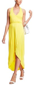 Yellow Maxi Dress by Other Sleeveless Crisscross Back Sweep Front