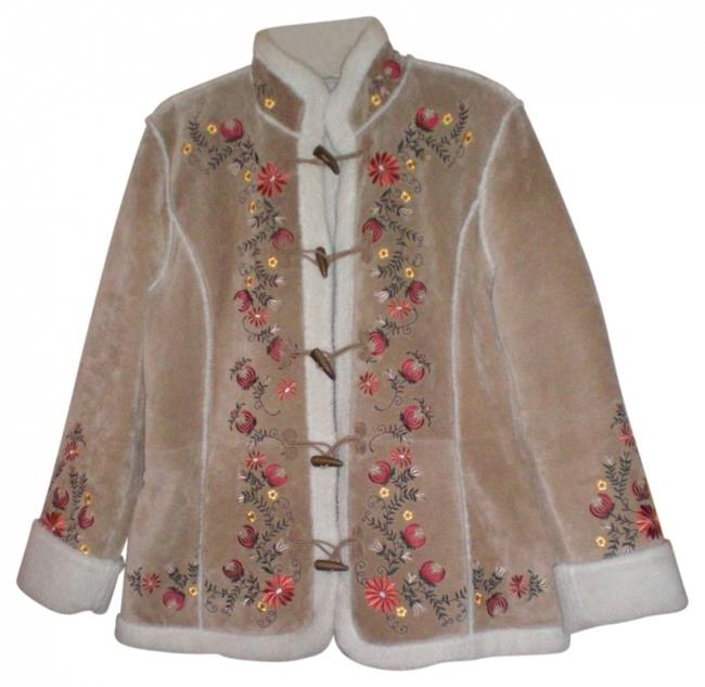 St. John Tan w/embroidery Jacket