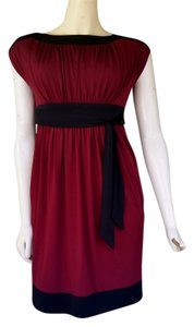 Maggy London short dress Wine Black Ruched Maroon Slinky on Tradesy