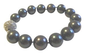 Pearlfection Pearlfection Faux Black Tahitian Pearl Bracelet Size 8 Inch