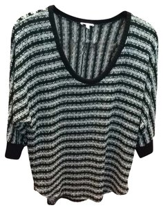 Splendid Top Black And Silver Knit