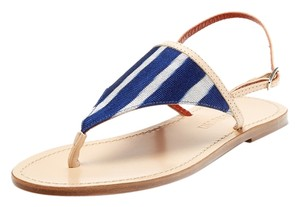 Missoni Italian Leather Blue White Sandals
