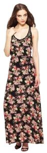 Black Multi Maxi Dress by Love Stitch Floral Print Sleeveless