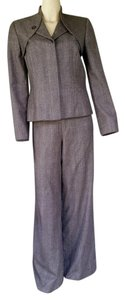 Carolina Herrera CAROLINA HERRERA Glen Plaid Wool Pants Suit Pantsuit 8