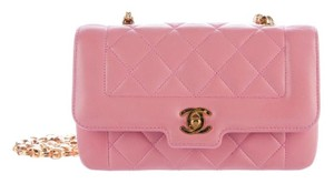 Chanel Classic Diana Flap Mini Woc Cross Body Bag