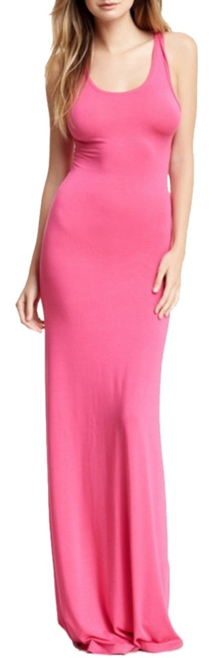 797406b7ac Go Couture Pink Scoop Neck Racerback Hot By Long Casual Maxi Dress ...