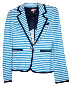Lilly Pulitzer Royal and White Striped Jacket