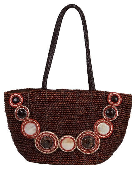 Skemo Brown/Burgundy Beach Bag
