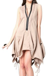 Gracia short dress Tan and Bl Zippers Cinched Brown Unique Drawstring on Tradesy