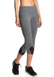 Mesh Capris HEATHER GRAY