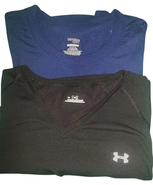Item - Black & Blue Two Workout Shirts Danskins Now. Activewear Top Size 12 (L, 32, 33)