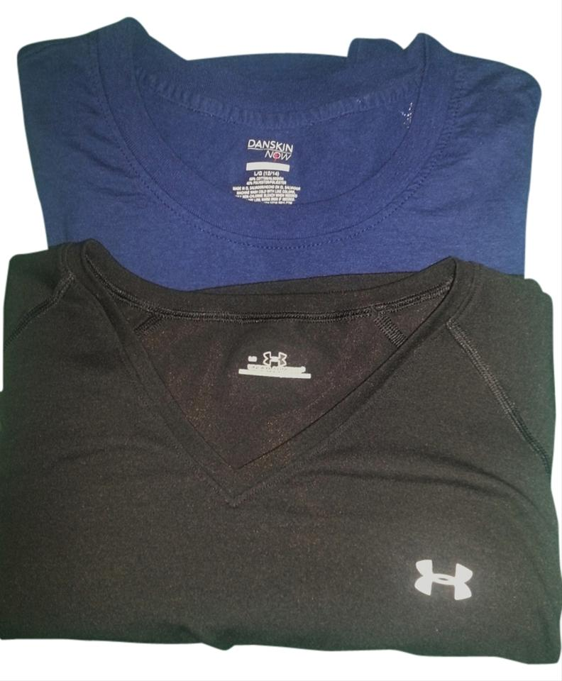 eb1ba3447669 Under Armour Black & Blue Two Workout Shirts Danskins Now ...