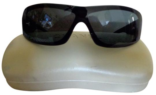 Chanel Chanel Black Wraparound Sunglasses With Chanel Case