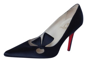 Christian Louboutin Satin Black Formal Classic Black Satin Pumps