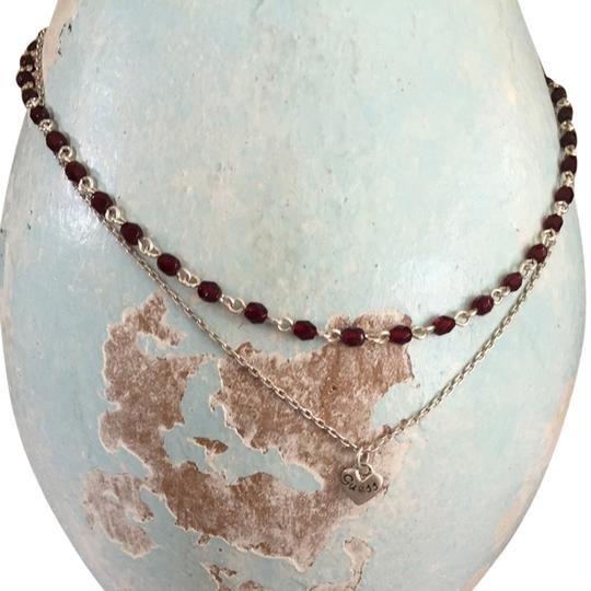 Guess Sterling Silver Double Row Necklace