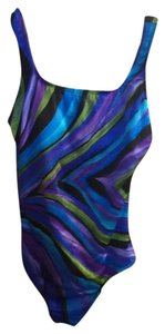 Longitude Rainbow-Design Swimsuit