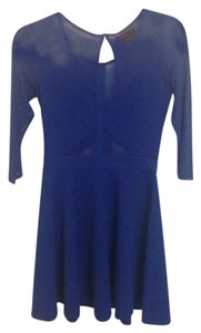 Material Girl Cut-out Top Royal Blue