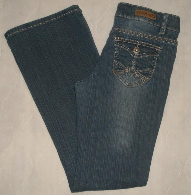 Mudd * Zip Fly * * Back Flap Pockets With Button Closure * Low Rise * Cotton/spandex * Machine Washable Boot Cut Jeans-Medium Wash