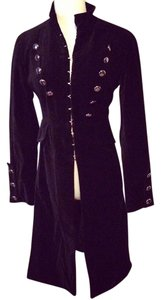 Newport News Military Style Velvet Military Jacket
