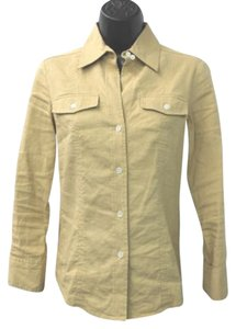 Theory Linen Blend P Button Down Shirt