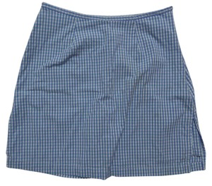 Kim Rogers Skort Blue Green and White Checkered Print