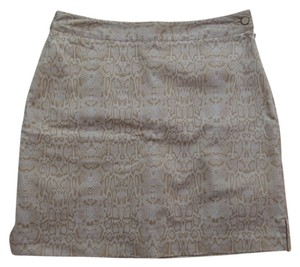 EP Pro Golf Skort White and Beige Geometric Print