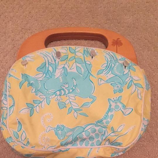 Lilly Pulitzer Yellow/blue Clutch