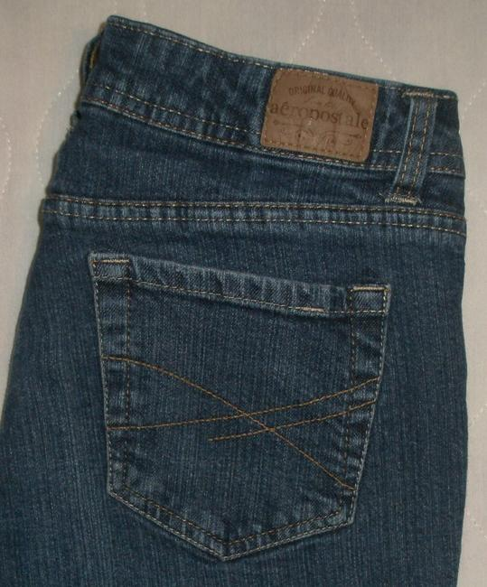 Aéropostale 5 Pocket Style * Zip Fly * Whiskering *distressing *low Rise * * Cotton/spandex * Machine Washable Boot Cut Jeans-Medium Wash
