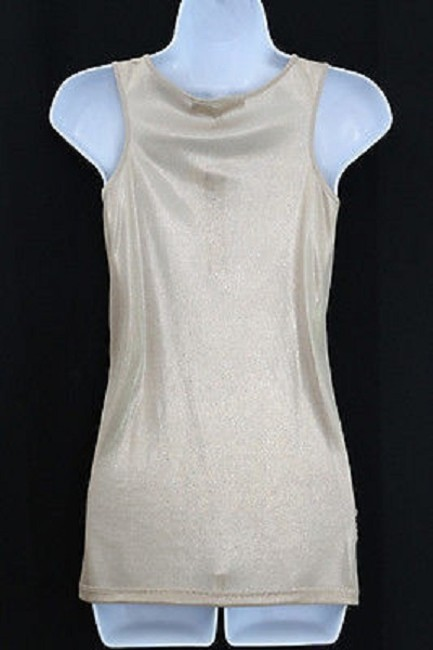 CYNTHIA STEEFE Sleeveless Gold Stretch M Top
