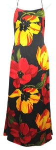 Kay Unger Floral Print Gown Dress