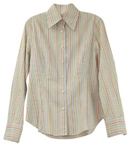 Etro Cotton Shirt 10 Button Down Shirt