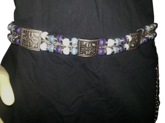 Preload https://item5.tradesy.com/images/silver-blue-and-purple-xxl-metal-with-wood-beads-chain-belt-3221704-0-0.jpg?width=440&height=440